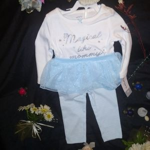 NWT CARTERS BABY GIRL TWO PIECE SET